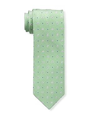 Bruno Piattelli Men's Spaced Teardrop Silk Tie, Green
