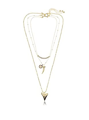 Daniela Swaebe Tribal Shark Tooth Set of Three Layering Necklaces