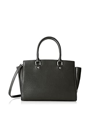 Merci Marie Women's Dana Trapazoid Shape Two-Handle Tote, Black