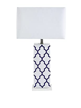 Mercana Cruble 1-Light Table Lamp, Purple/White