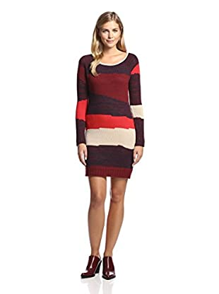 Lucca Couture Women's Striped Sweater Dress