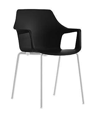 COLOS Stuhl 2er Set Vesper 2 schwarz/weiß