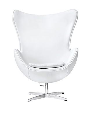 Manhattan Living Inner Chair Leather, White