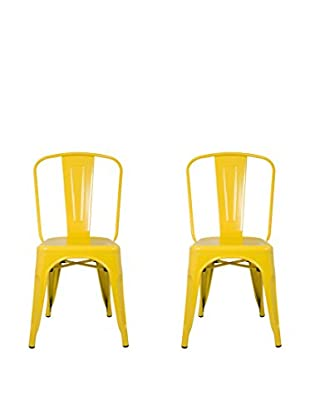 Manhattan Living Set of 2 Talix Chairs, Yellow