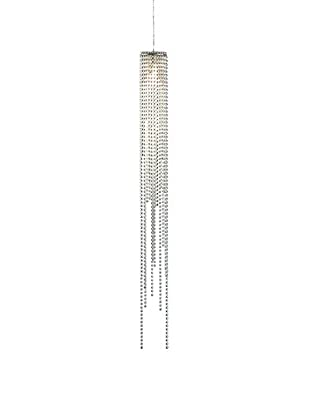 Nova Lighting Bead 1-Light Pendant, Brushed Nickel