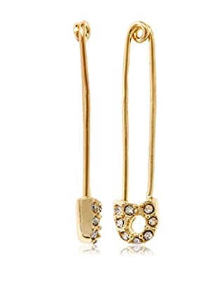 Chloe & Theodora Pave Set Safety Pin Earring