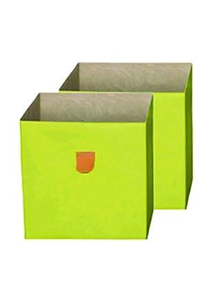 phoenix home Set, 2-tlg. Aufbewahrungsbox grün