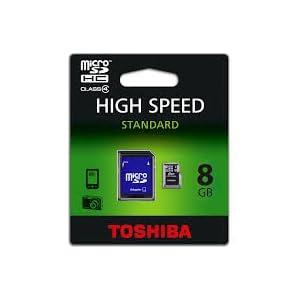 Toshiba micro SDHC Memory Card 8GB