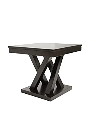 Baxton Studio Everdon End Table, Dark Brown/Cappucino