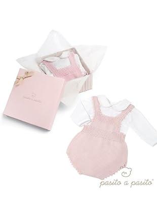 Pasito A Pasito Set Ranita y Camiseta Rayas (rosa / blanco)