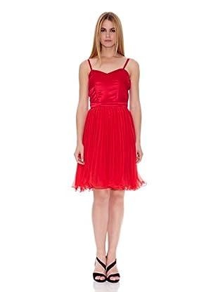 Naf Naf Vestido Valérie (Rojo Intenso)