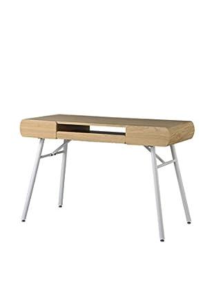 Techni Mobili Semi-Assembled Contemporary Computer Desk, Pine