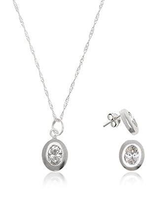 Córdoba Joyeros Conjunto de cadena, colgante y pendientes Zirconium Clasic