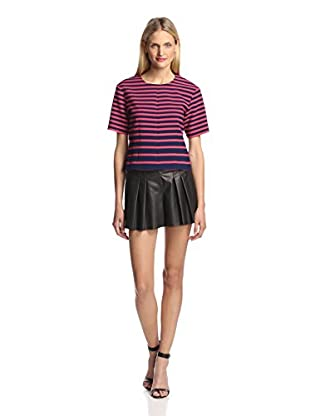Thakoon Addition Women's Striped Top (Navy/Pink)