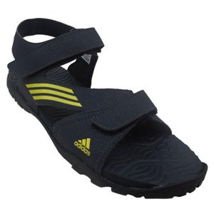 Adidas Synthetic Floaters (Black & Lime) - L45014