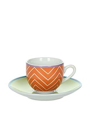 Tognana Kaffeetasse mit Untertasse 6er Set Metropolis Babila