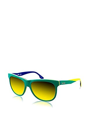 Diesel Sonnenbrille DL0112-95G (56 mm) grün/gelb