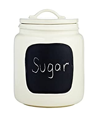 Rae Dunn by Magenta Chalkboard Jar, Medium, White