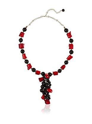 Sándalo Halskette  rot/schwarz
