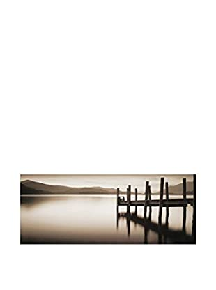 ArtopWeb Panel de Madera Shephers Landing Stage Denwent Water 34x85 cm