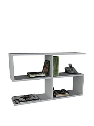 Dekorister Bücherregal Beliz weiß 22x90x55,5cm