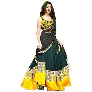 Ninecolours LD0370075 Bollywood Replica Lehenga - Yellow