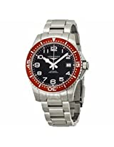 Longines Hydro Conquest Black Dial Red Bezel Stainless Steel Mens Watch L36944596