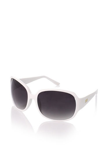 GÖTZ Switzerland Women's 09-18627 Round Sunglasses, White/Smokey Black