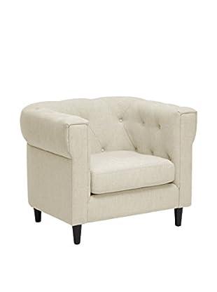 Baxton Studio Cortland Modern Chesterfield Chair, Beige