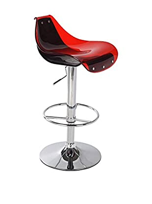 Luxury Home Bright Bar Stool, Red/Black