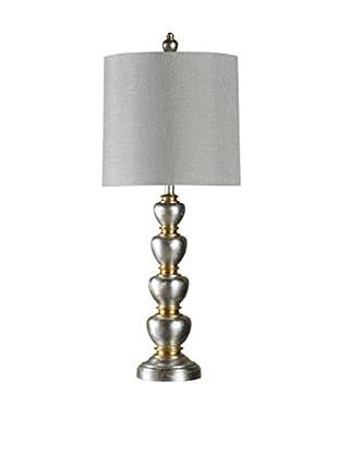 StyleCraft Jane Seymour 1-Light Table Lamp, Silver/Gold/Grey