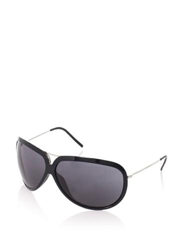 Giorgio Armani Women's 623/S Wrap Aviator Sunglasses, Shypallad/Black