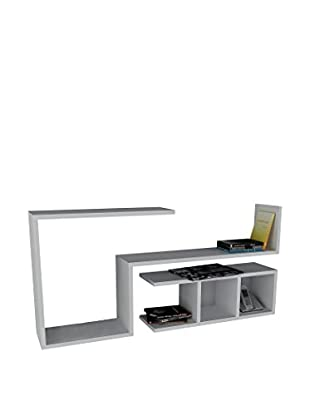 Dekorister Bücherregal Finito weiß 22x117x55,5cm