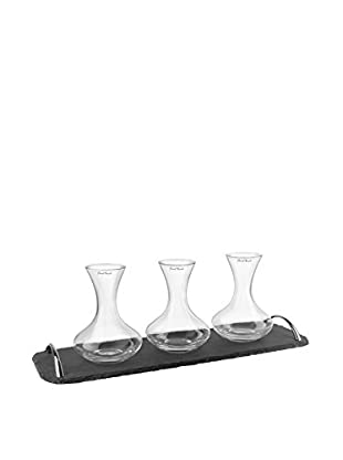 Final Touch Flights Decanter Set on a Slate Serving Tray