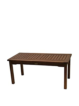 Outdoor Interiors Eucalyptus Rectangular Coffee Table, Brown