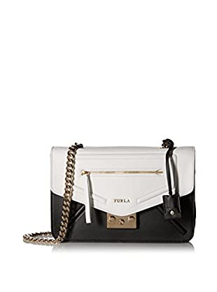 Furla Women's Alice Small Crossbody Pop Star, Onyx/Chalk