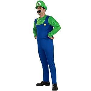 Luigi Adult Costume ルイジ大人用コスチューム♪ハロウィン♪サイズ:Medium