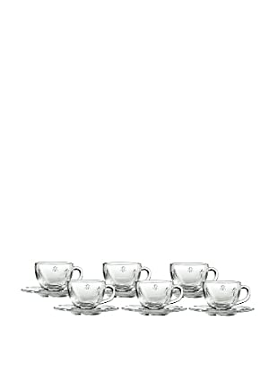 La Rochère Set of 6 Bee Décor 3-Oz. Espresso Cups & Saucers
