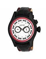 August Steiner Black Ion-Plated Gmt Mens Watch As8005R