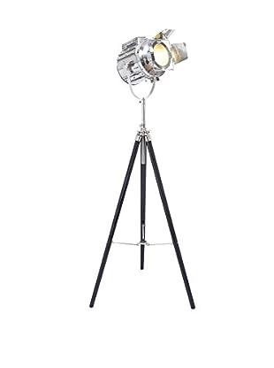 Tripod 1-Light Spotlight, Black/Silver