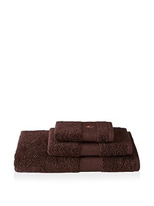 Tommy Bahama Pineapple Embroidery 3-Piece Bath Towel Set, Chocolate