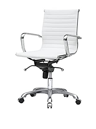 MaxMod Lider Office Chair Mid Back, White