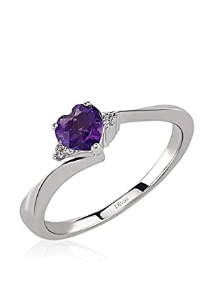 Divas Diamond Ring Diamond Amethyst Heart Ring