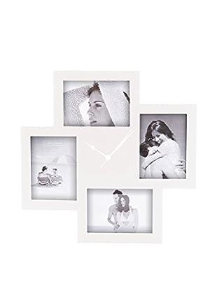 Contemporary Living Reloj De Pared Collage 4F Blanco