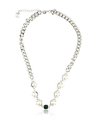 MAIOCCI Collar Plateado / Verde