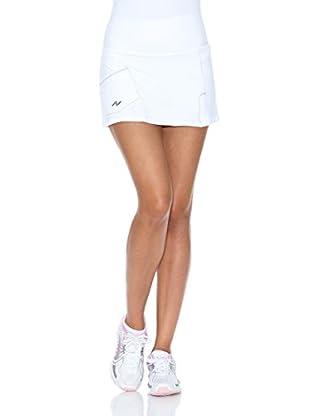 Naffta Falda Short Tenis / Padel (Blanco / Azul Marino)