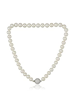 Bentelli Collar 925 Silver Pearls Cubic Zirconia plata de ley 925 milésimas