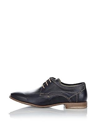 Fretz Men Zapatos Derby Sebastian (Azul Oscuro)
