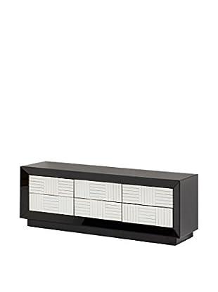 Natura Accent Fernsehmöbel schwarz/weiß