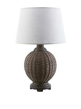 Surya Raven Outdoor Table Lamp, Faux-Rattan